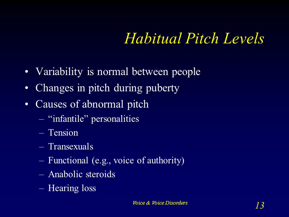 Habitual Pitch Levels Variability is normal between people