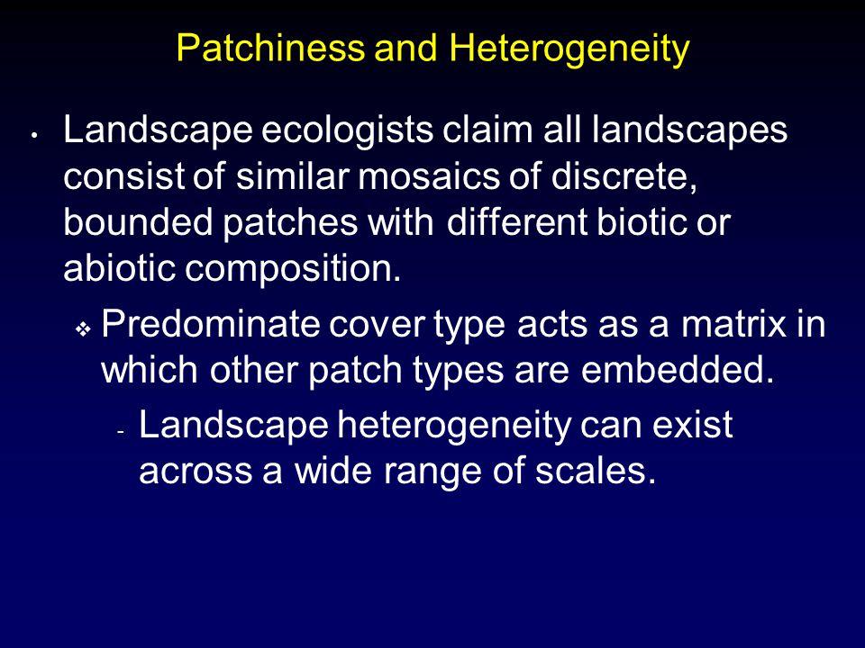 Patchiness and Heterogeneity