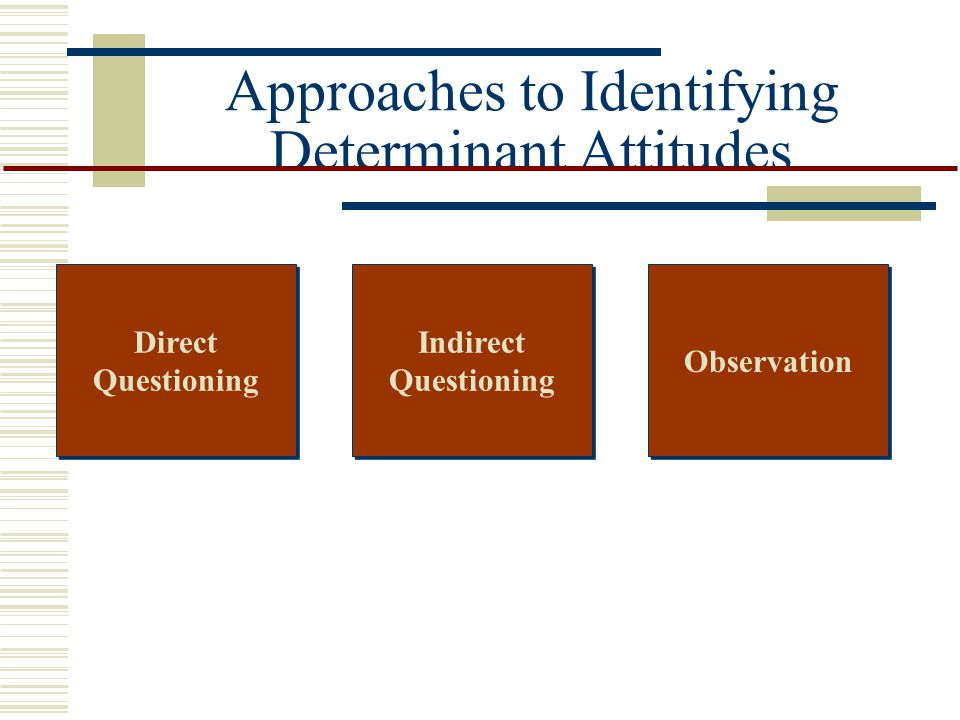 Approaches to Identifying Determinant Attitudes