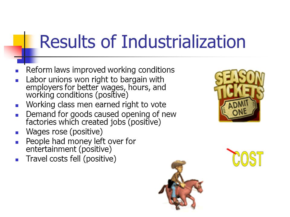 Results of Industrialization