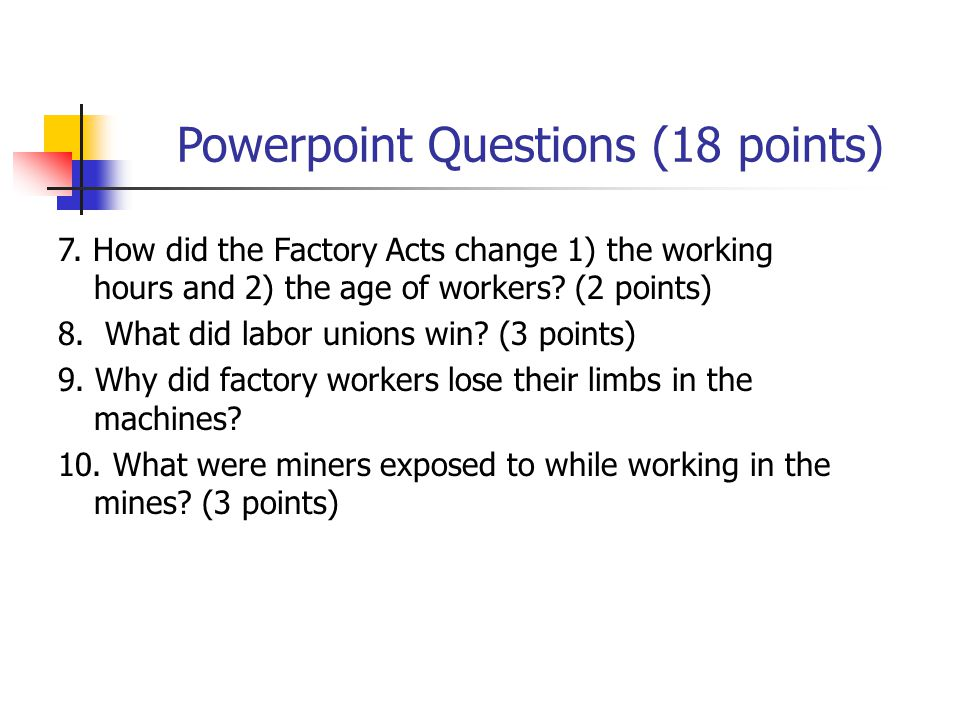 Powerpoint Questions (18 points)