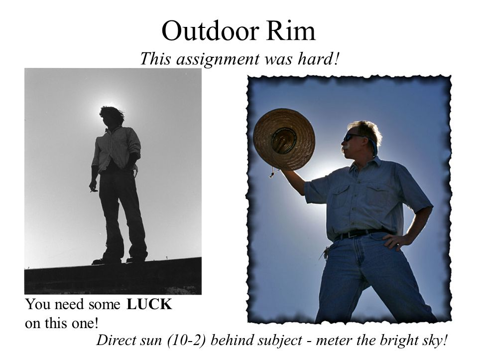 Outdoor Rim This assignment was hard!