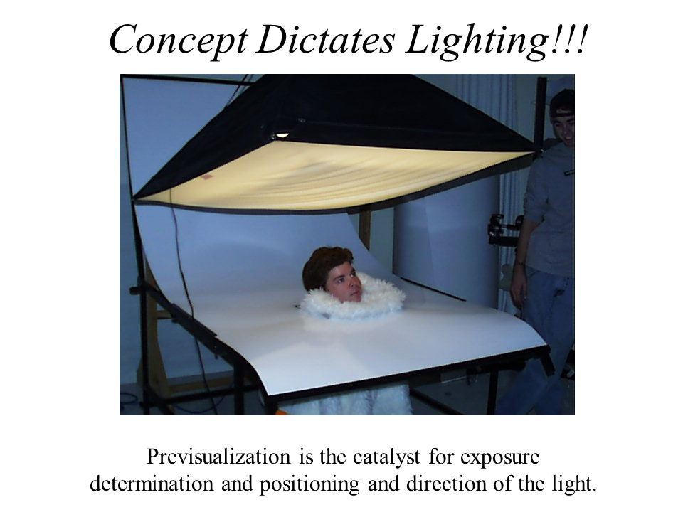 Concept Dictates Lighting!!!
