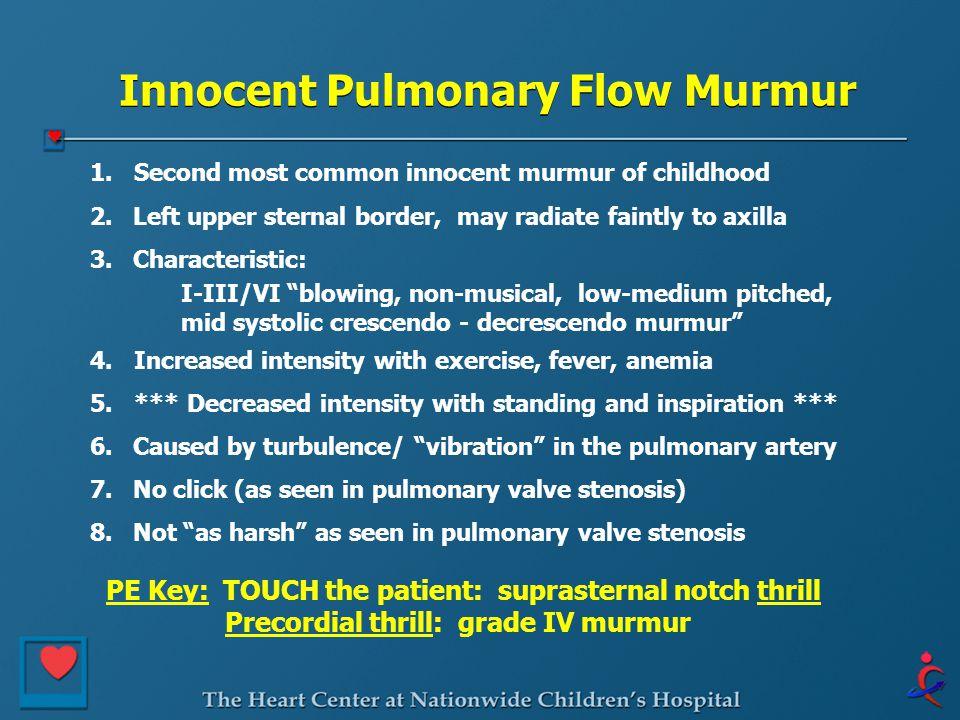 Innocent Pulmonary Flow Murmur