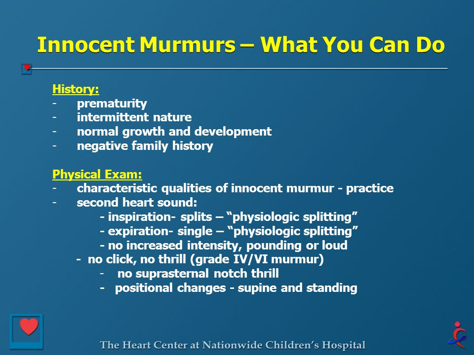 Innocent Murmurs – What You Can Do