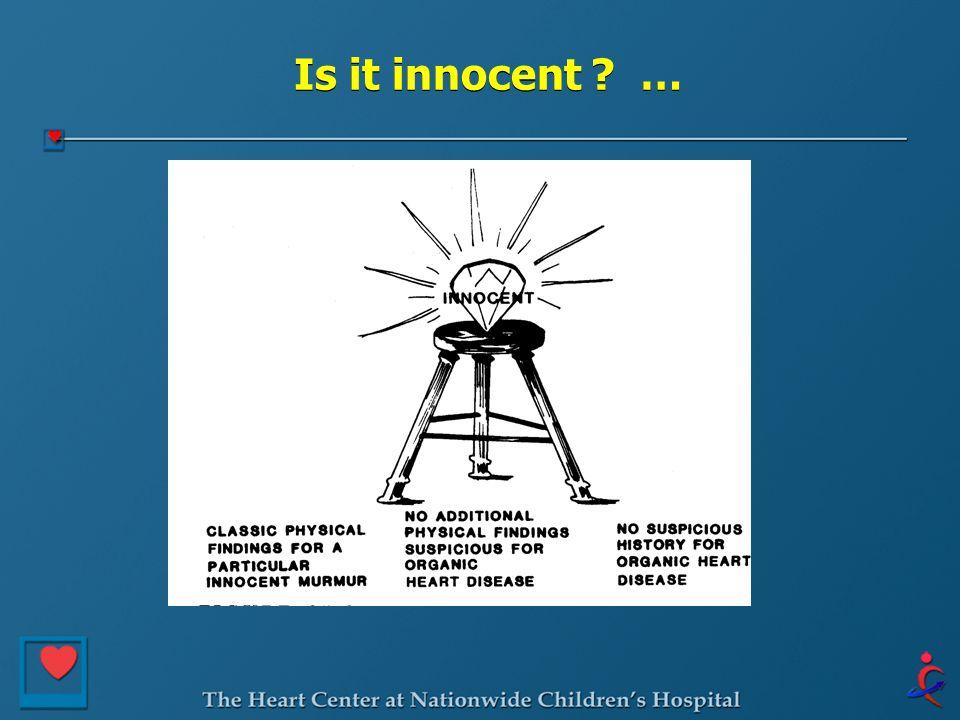 Is it innocent …