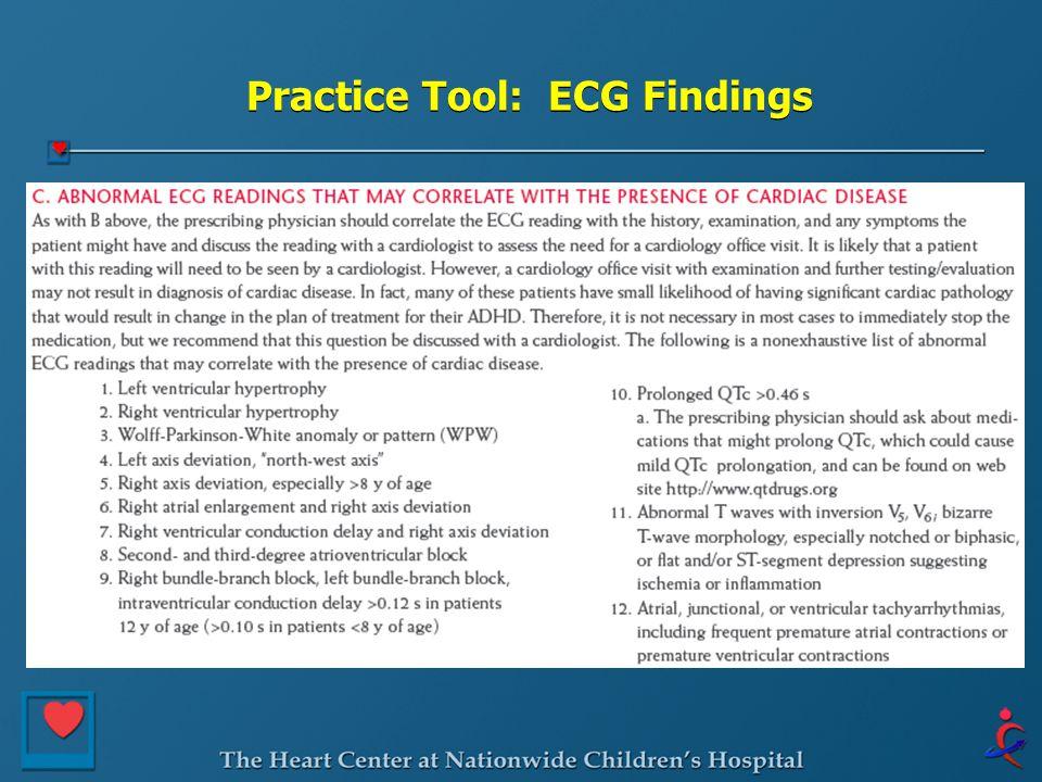 Practice Tool: ECG Findings