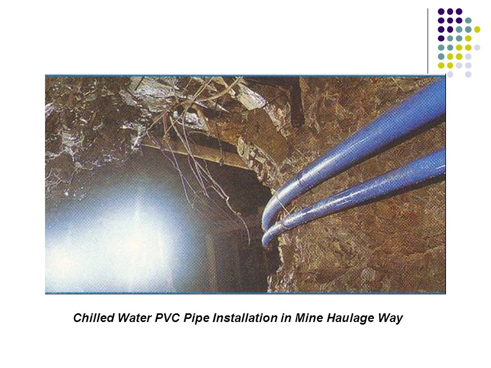 Chilled Water PVC Pipe Installation in Mine Haulage Way