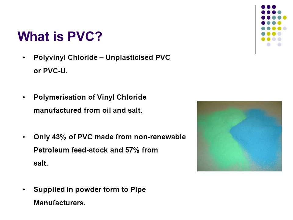 What is PVC Polyvinyl Chloride – Unplasticised PVC or PVC-U.