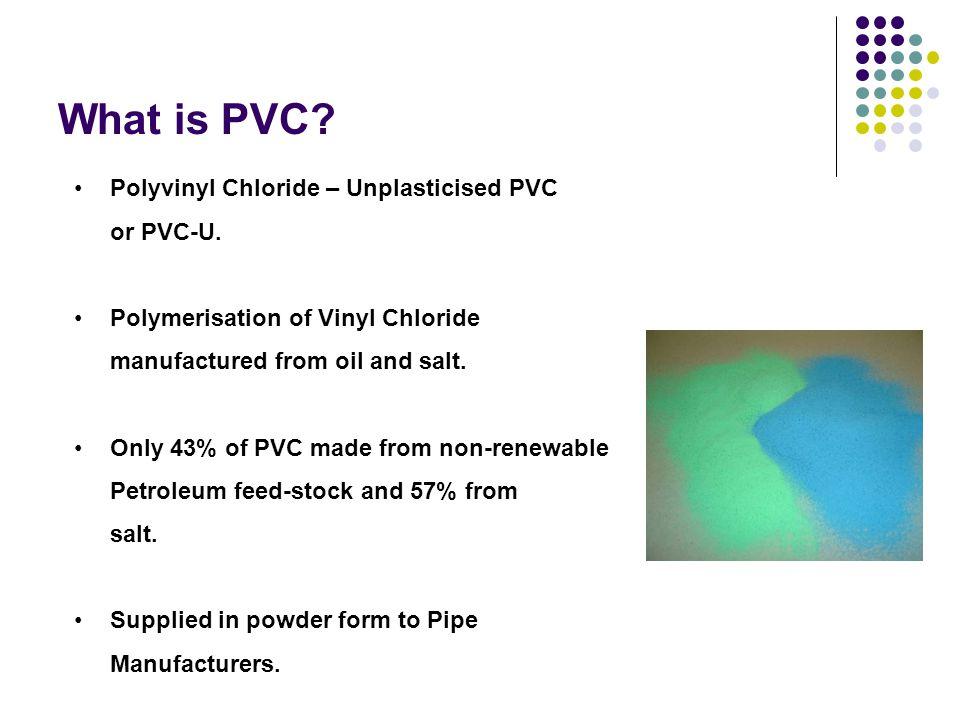 What is PVC Polyvinyl Chloride – Unplasticised PVC or PVC-U.