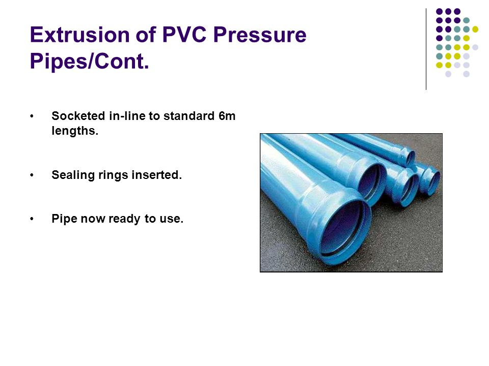 Extrusion of PVC Pressure Pipes/Cont.