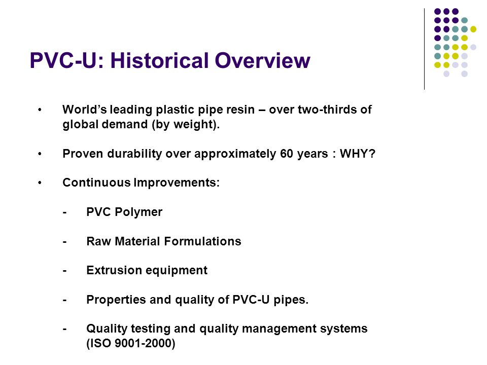 PVC-U: Historical Overview