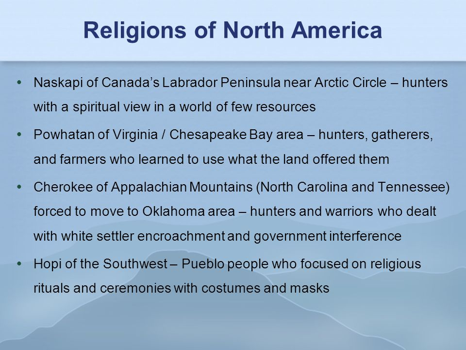 Religions of North America