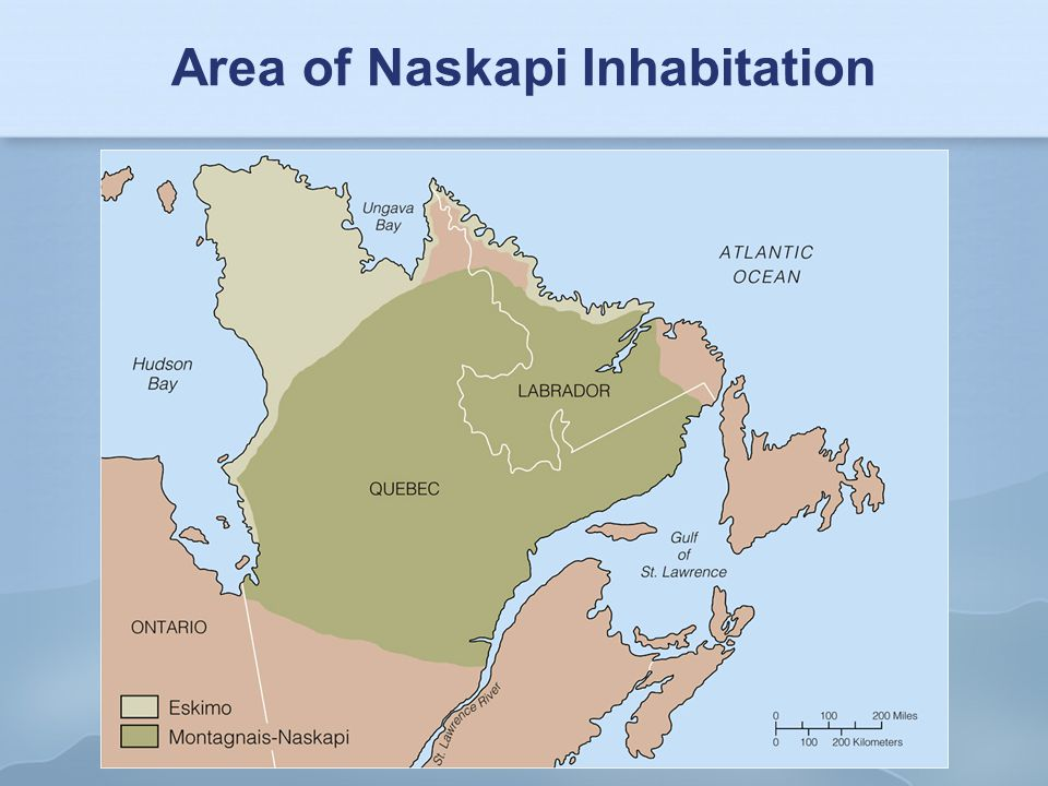 Area of Naskapi Inhabitation