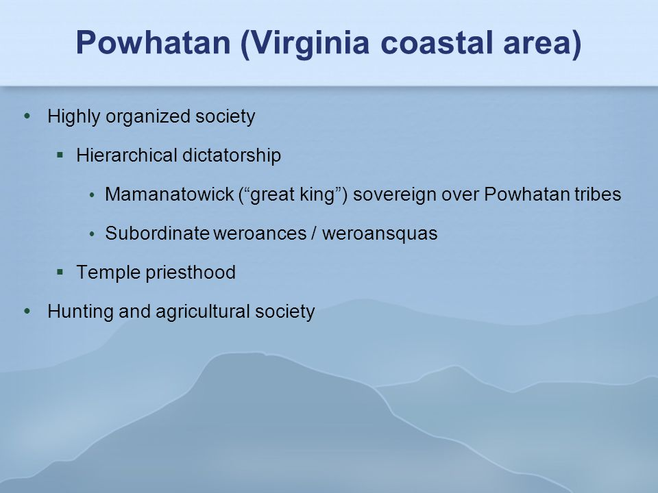 Powhatan (Virginia coastal area)