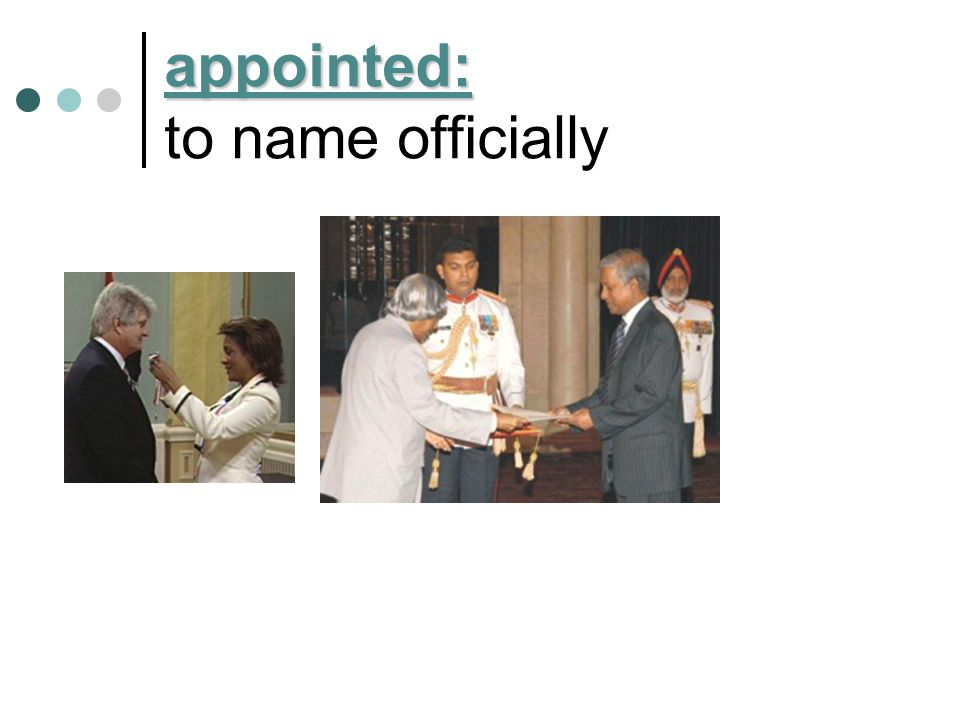 appointed: to name officially