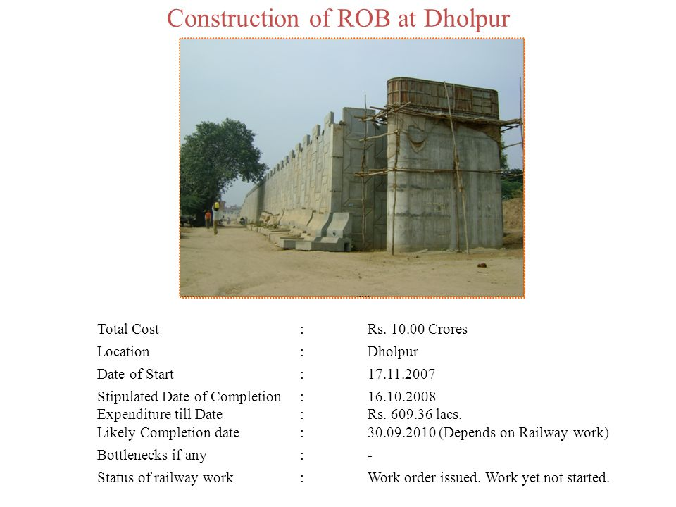 Construction of ROB at Dholpur