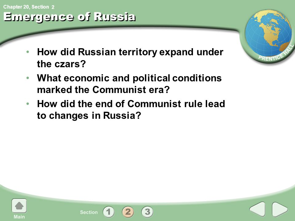 Emergence of Russia How did Russian territory expand under the czars