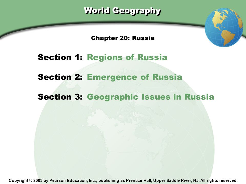 Section 1: Regions of Russia