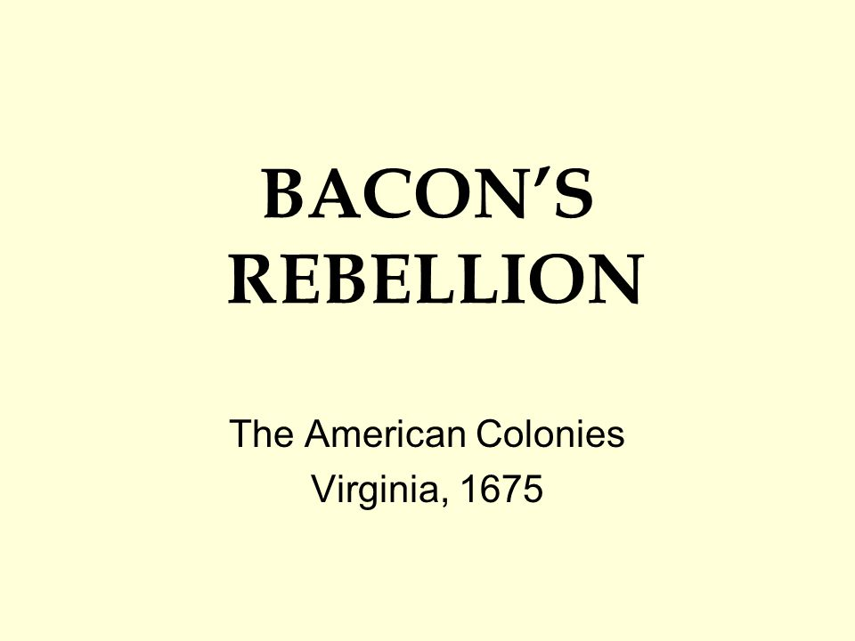 The American Colonies Virginia, 1675