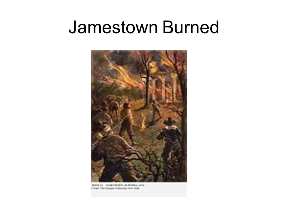 Jamestown Burned