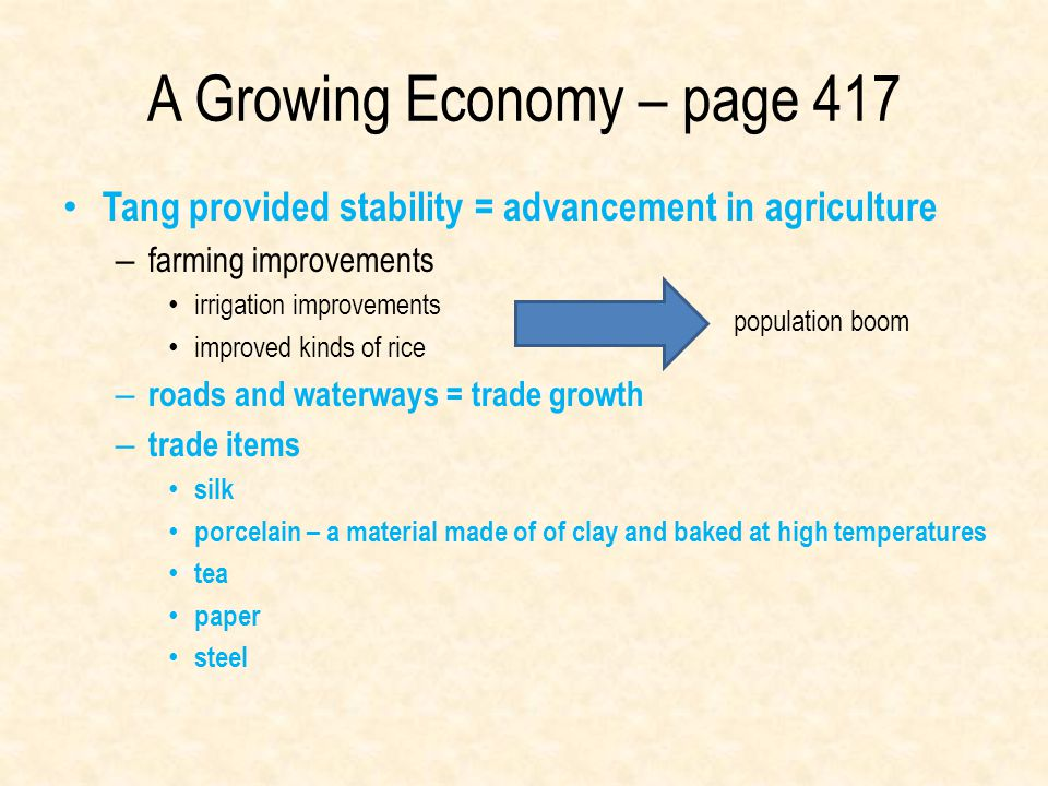 A Growing Economy – page 417