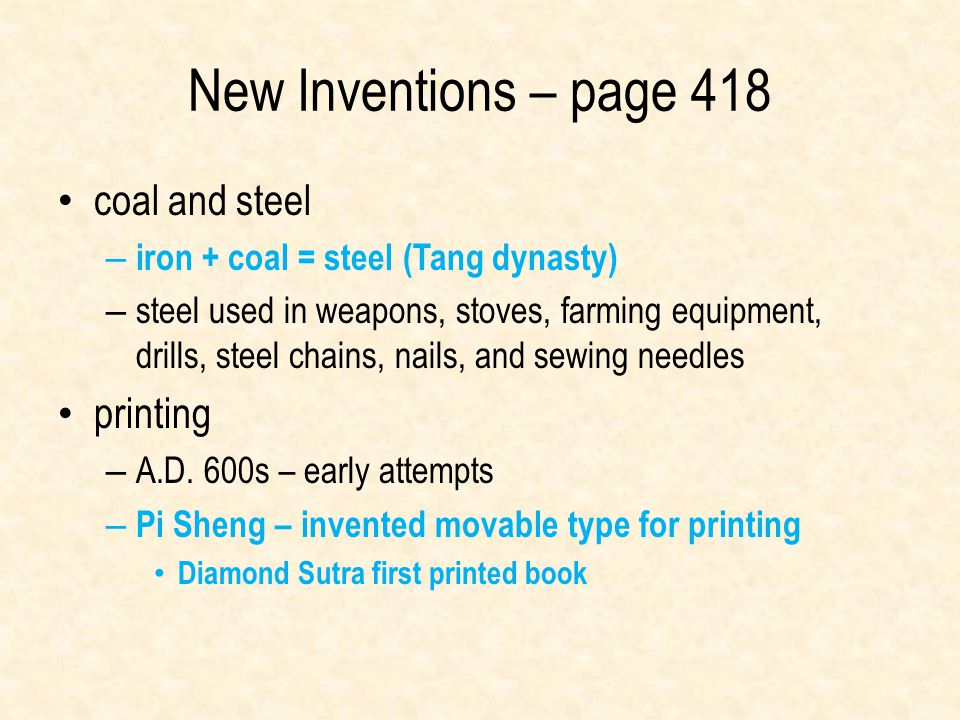 New Inventions – page 418 coal and steel printing