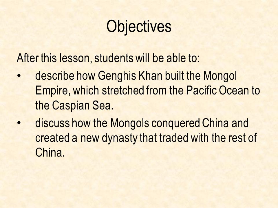 Objectives After this lesson, students will be able to: