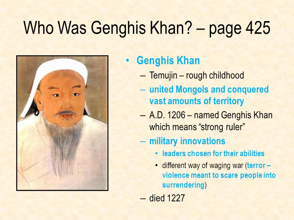 Who Was Genghis Khan – page 425