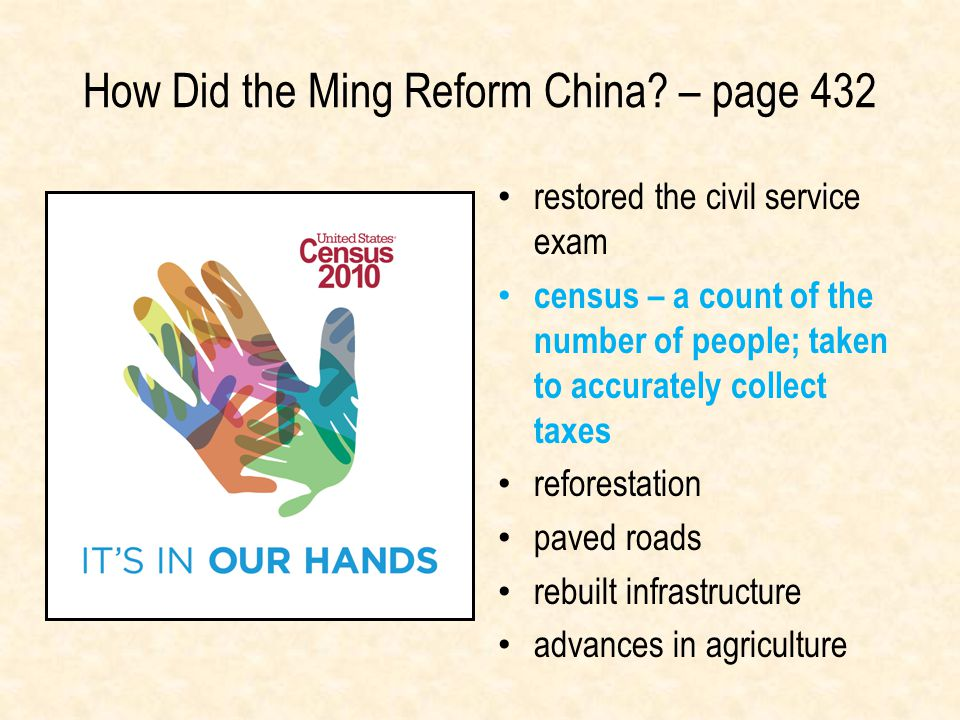 How Did the Ming Reform China – page 432