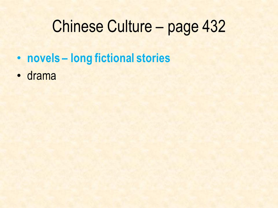 Chinese Culture – page 432 novels – long fictional stories drama