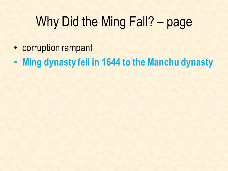 Why Did the Ming Fall – page