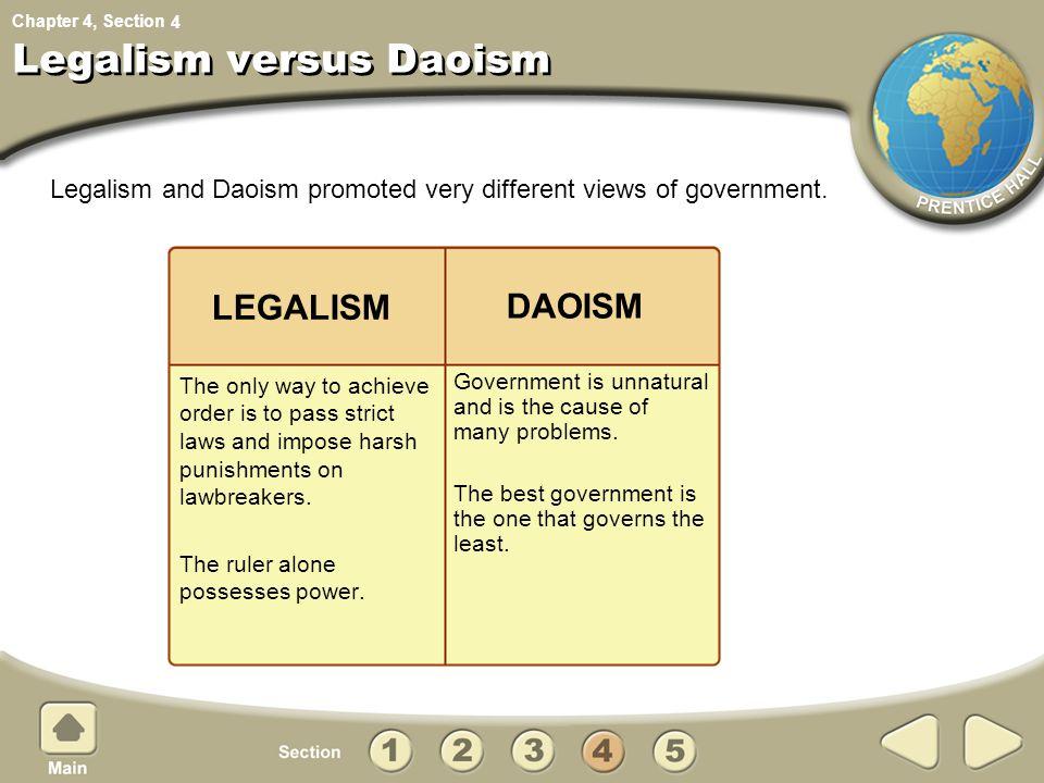 Legalism versus Daoism