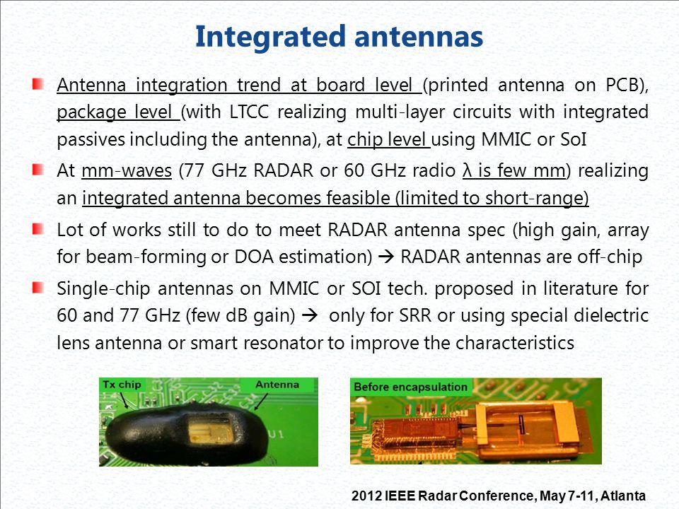 Integrated antennas