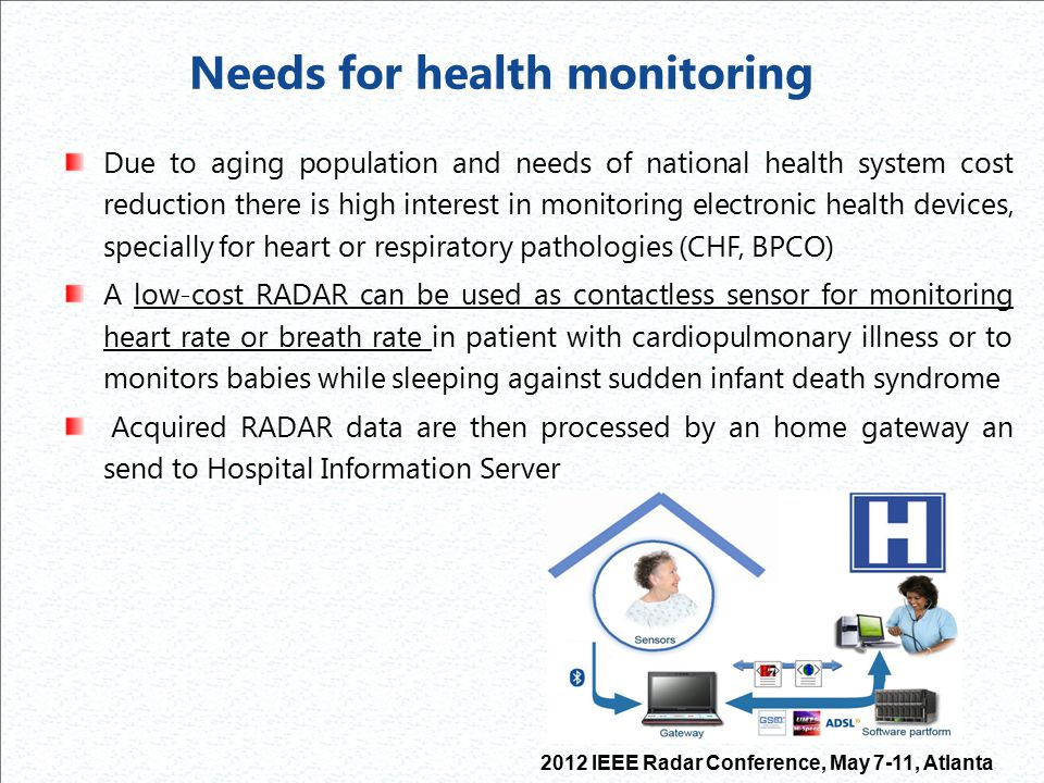 Needs for health monitoring