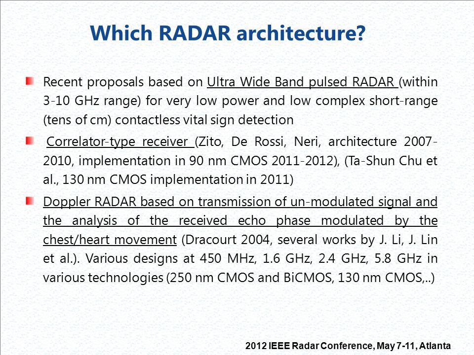 Which RADAR architecture
