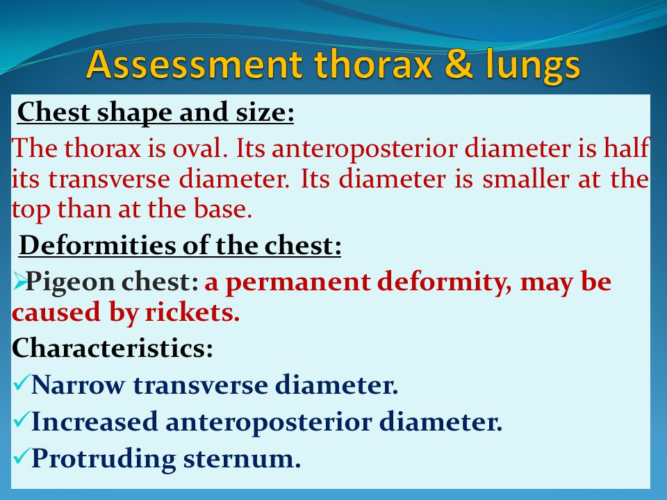 Assessment thorax & lungs