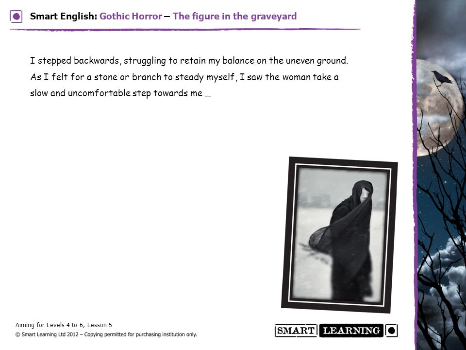 Smart English: Gothic Horror – The figure in the graveyard