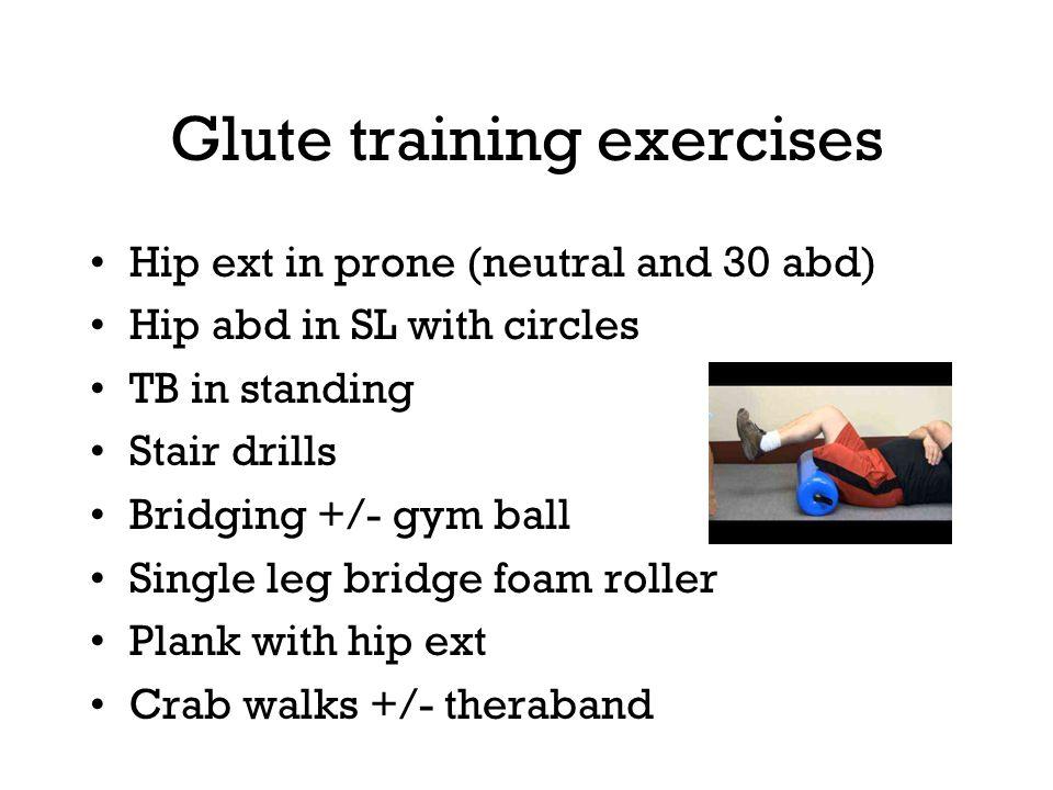 Glute training exercises