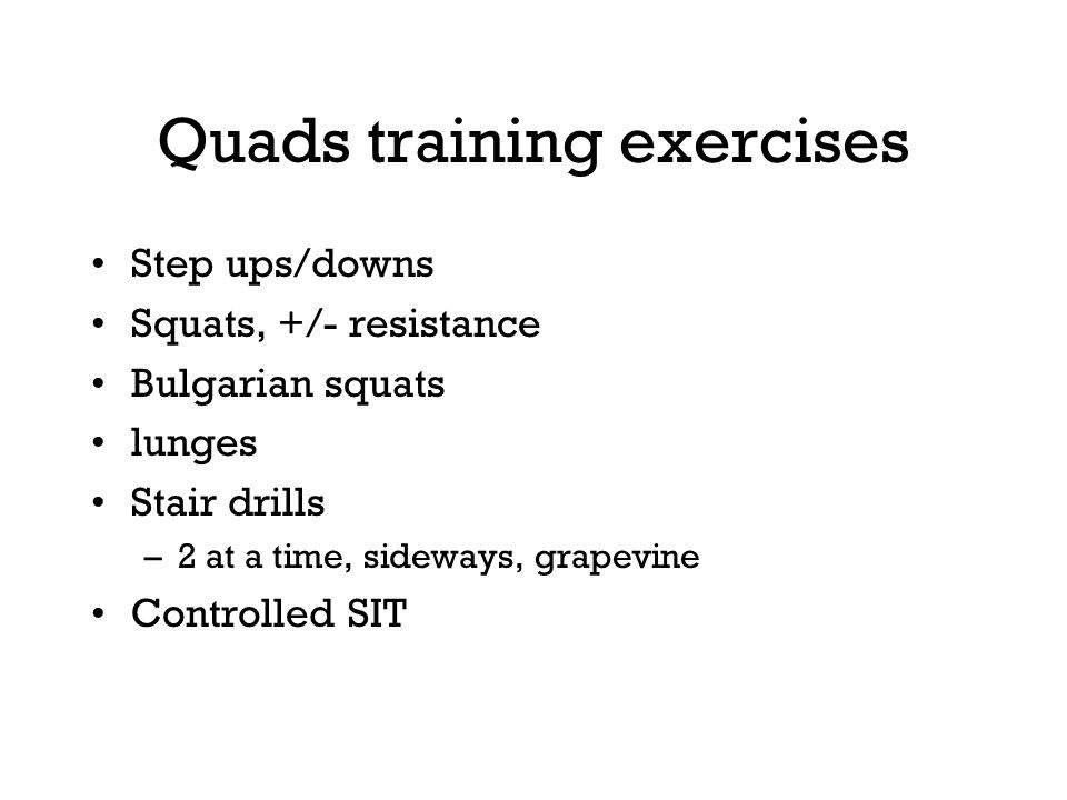 Quads training exercises