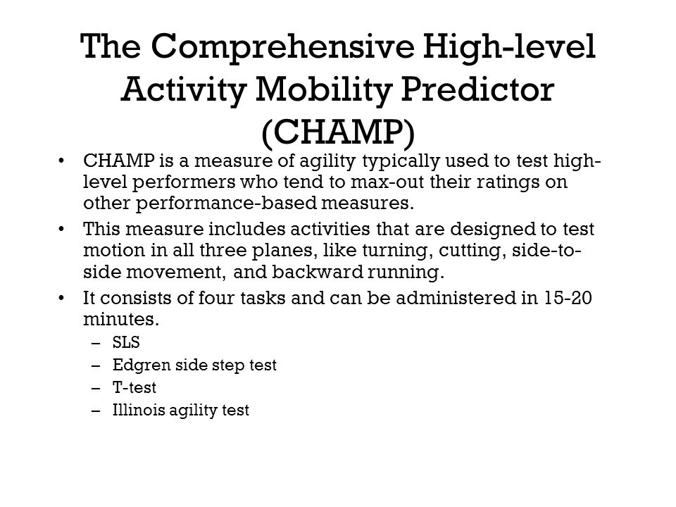 The Comprehensive High-level Activity Mobility Predictor (CHAMP)