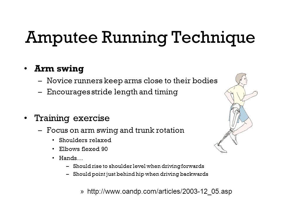 Amputee Running Technique