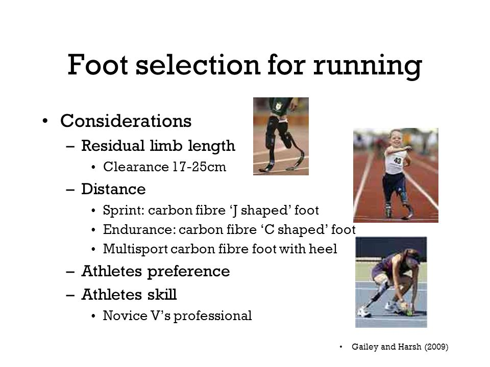 Foot selection for running