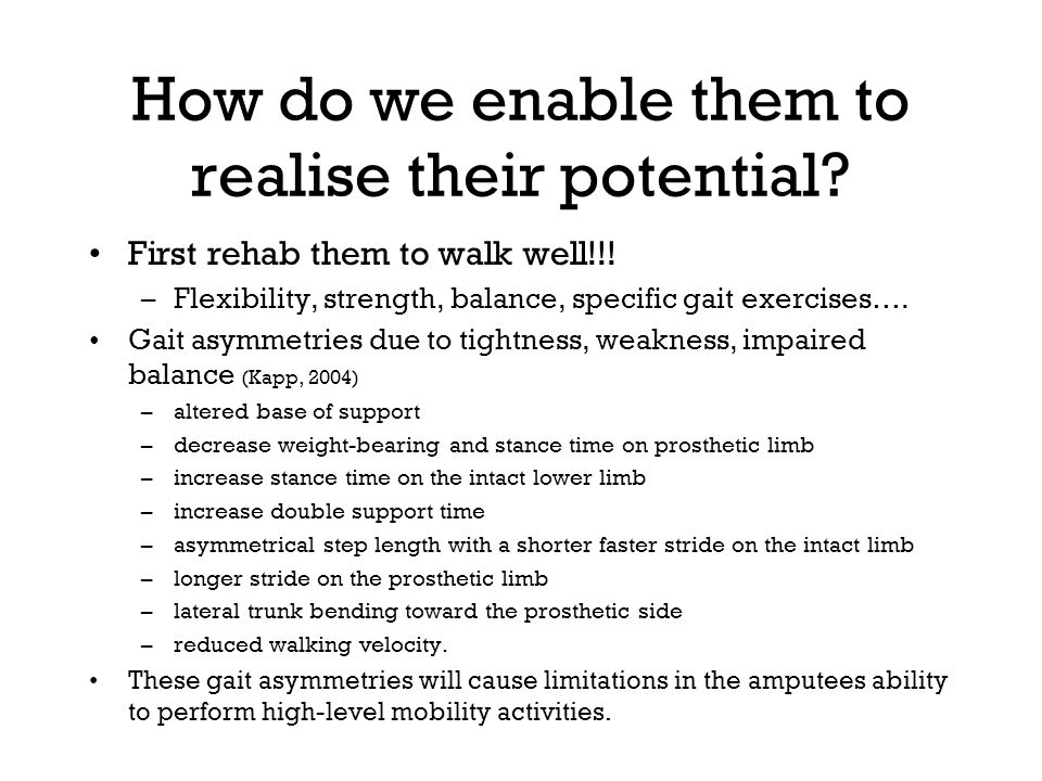 How do we enable them to realise their potential