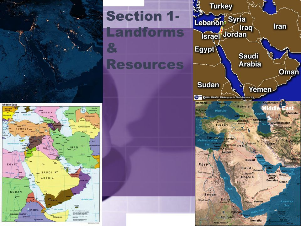 Section 1- Landforms & Resources