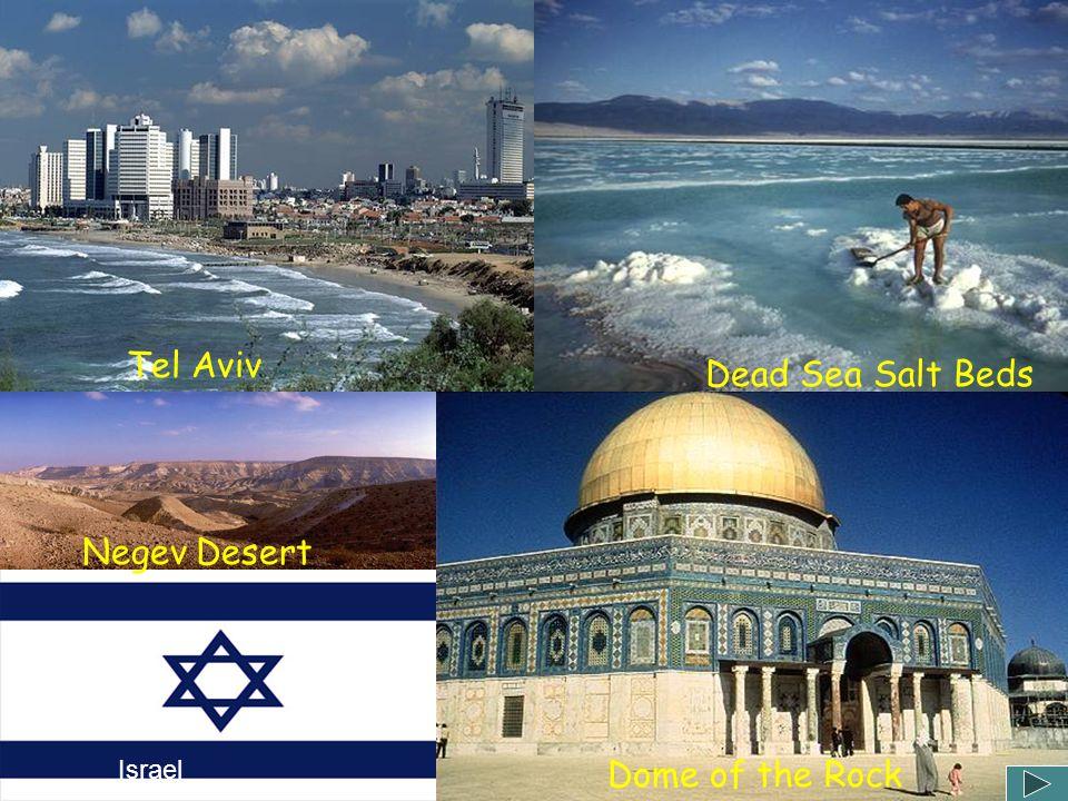 Tel Aviv Dead Sea Salt Beds Negev Desert Israel Dome of the Rock