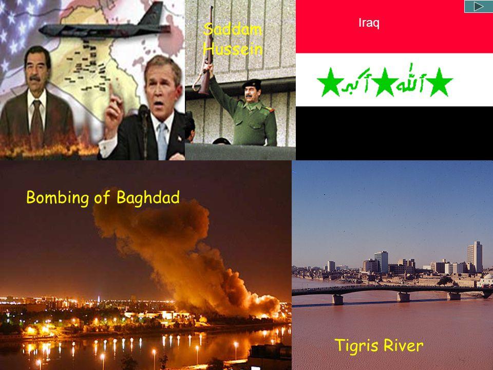 Iraq Saddam Hussein Bombing of Baghdad Tigris River