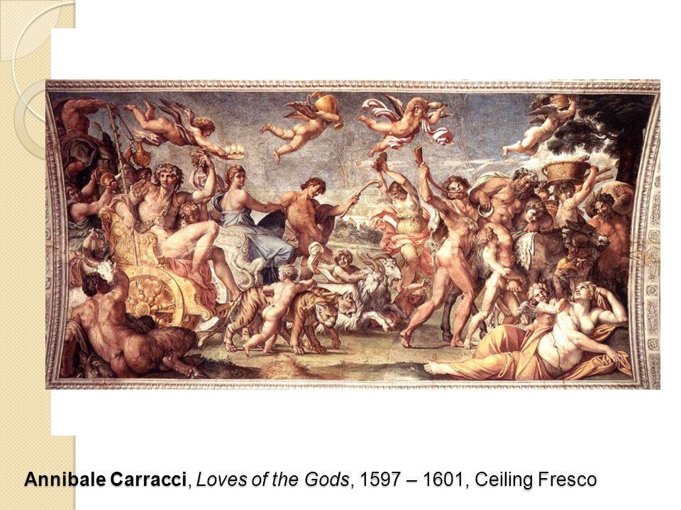 Annibale Carracci, Loves of the Gods, 1597 – 1601, Ceiling Fresco