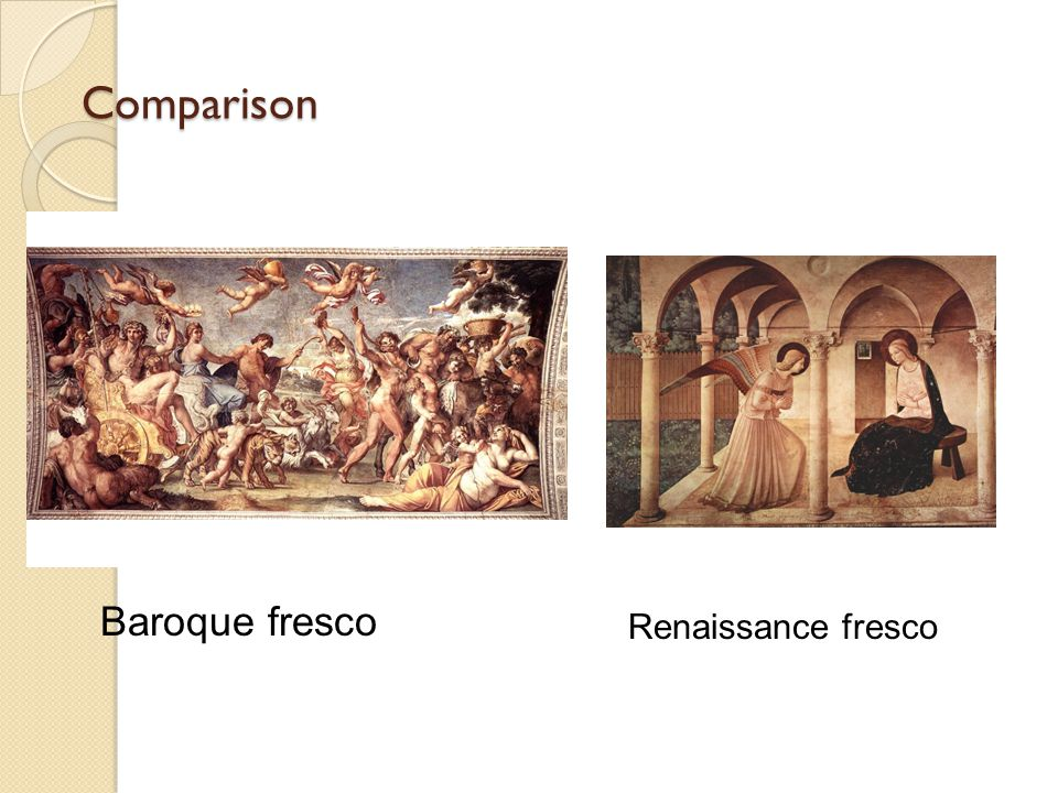 Comparison Baroque fresco Renaissance fresco