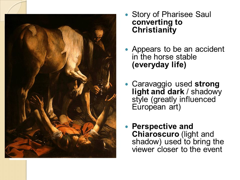 Story of Pharisee Saul converting to Christianity